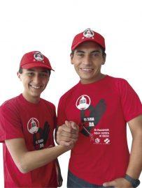 Camisetas y gorras para campañas de salud