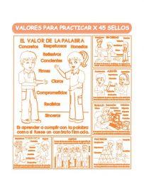 Sellos Educativos Valores para Practicar